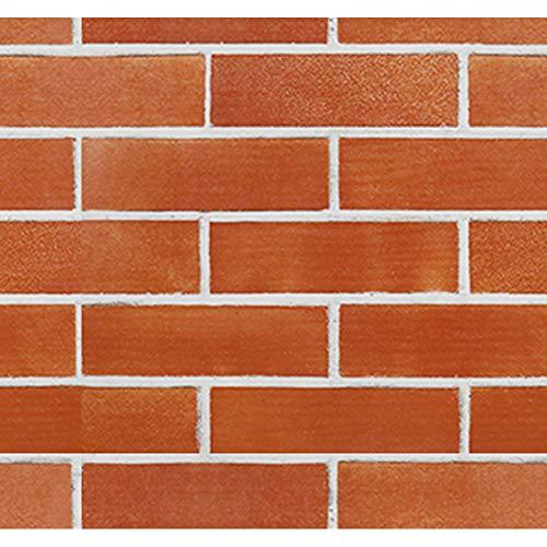 Papel de Pared Decorativo Removible Papel de Pared Adhesivo Pegatina de Pared de Ladrillo Estilo Retro Rollo de Papel Mural Apto Para Decoraciones de Vivienda Alquilada