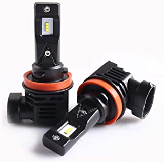 Sanvi 2PCS M3 Auto LED Headlight bulb 55W 6500k H4 H7 H11 9005 9006 Car LED Headlamp with ZES LED Chips Halogen headlight bulb Replacement coversion kits (H8/H9/H11/H16)
