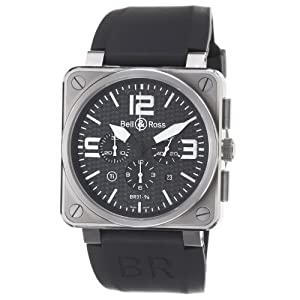 Bell & Ross Men's BR01-94-TITANIUM Avation Titanium Chronograph Watch