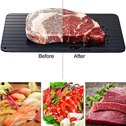 Fast Ontdooibak, Thaw Frozen Food Vlees Fruit Snel Ontdooien Plate Kitchen Gadget Tool,30.5 * 22.5 * 2cm