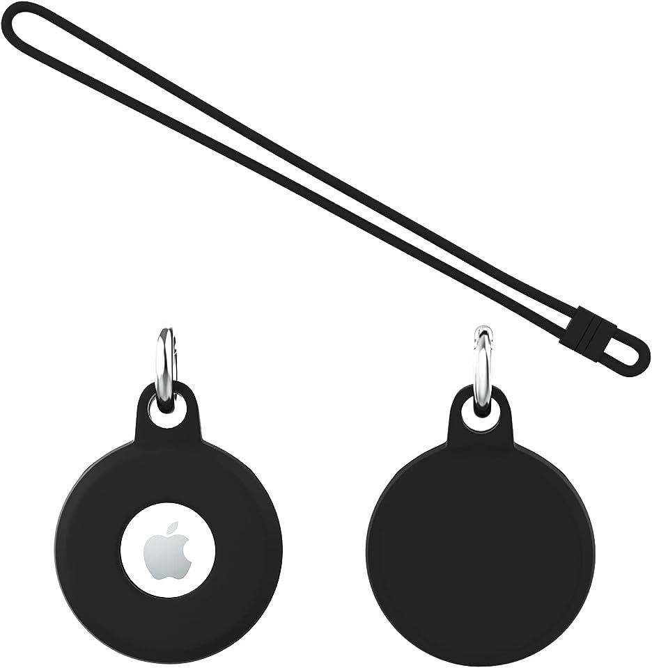 Sanyee Schutzhülle Kompatibel mit Apple AirTags, Soft TPU Ultra Thin Cover Stoßfest Anti-Scratch Slim-Fit Shock Absorption Anti-Lost Leather Case Kompatibel mit Hülle Apple Airtags