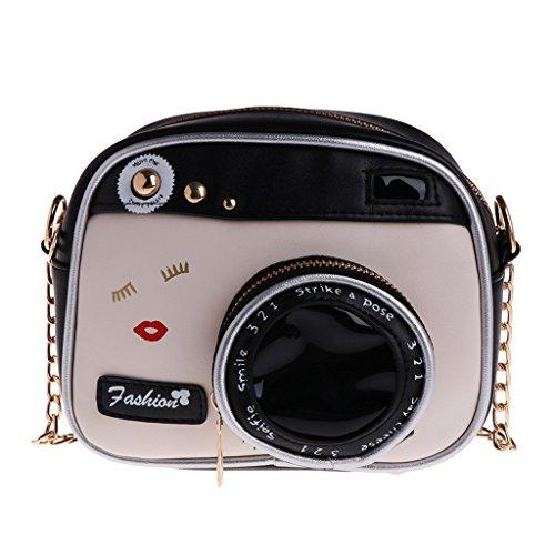 Bolso bandolera para mujer con forma de cámara