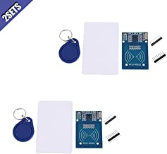Ximimark 2Sets Rc522 Card Read Antenna RF RFID Reader IC Card Proximity Module 13.56MHz 14443A MIFARER MF RC522 RFID Module with S50 Key for Arduino