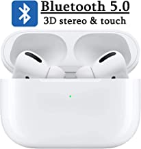 Bluetooth 5.0 Wireless Earbuds, Wireless Earphones, Noise Canceling IPX7 Waterproof Sports Headphones, Pop-ups Auto Pairing with Mini Charging Case, Built-in Mic, for Apple Airpods pro Android/iPhone