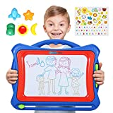 NextX Magnetic Drawing Board Write and Learn Creative Toy, Blue-Red