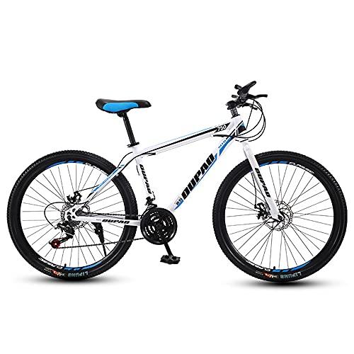 Bicicleta De MontañA, Bicicleta De MontañA Acero Al Carbono, Delantera Y Trasera Frenos De Disc, 21 Marchas Shimano 26' Pulgadas, Para Adultos
