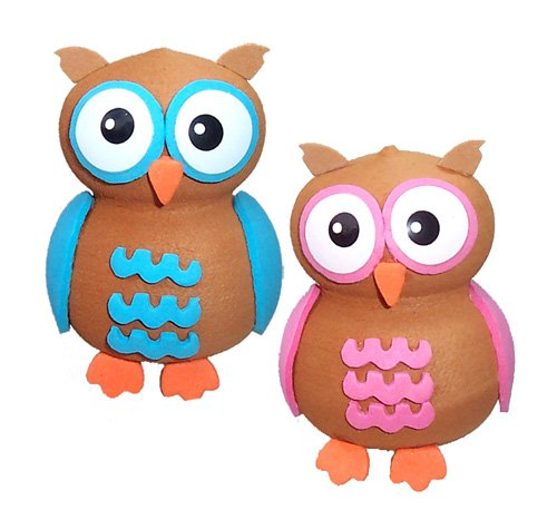 Tenna Tops Cute Owl Couple Car Antenna Toppers/Auto Mirror Hangers/Desktop Spring Stand Bobble Buddies (Pack of 2) (Cute Car Accessories)
