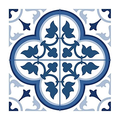 Ancoree Clover Flooring Tile Sticker for Bathroom Kitchen Floor Backsplash Bathroom Countertop, Waterproof and Removable Wall Sticker, 1.8mm Super Thick, 30 x 30cm (J,24pcs)