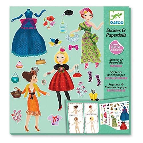 Djeco - Paper Dolls und Sticker Massive Fashion Papierpuppen