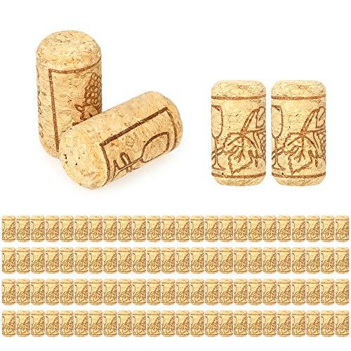 maxgoods 100 Pezzi # 9 Tappi per Vino in Sughero Diritto, 40 * 20 mm, Tappi per Vino Naturali, Ottimi per l'imbottigliamento del Vino, Tappi per Cucine e Decorazioni