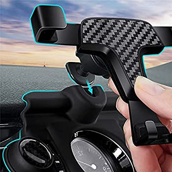 Only fit Two Buttons for RAV4 LE XSE Limited Hybrid Adventure XA50 2019 2020 2021 Car Dashboard Mobile Phone Holder Cell Phone Holder Mount Bracket Carbon Fiber