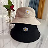 Sombrero de Cubo Bordado con Margaritas, Sombreros de Playa