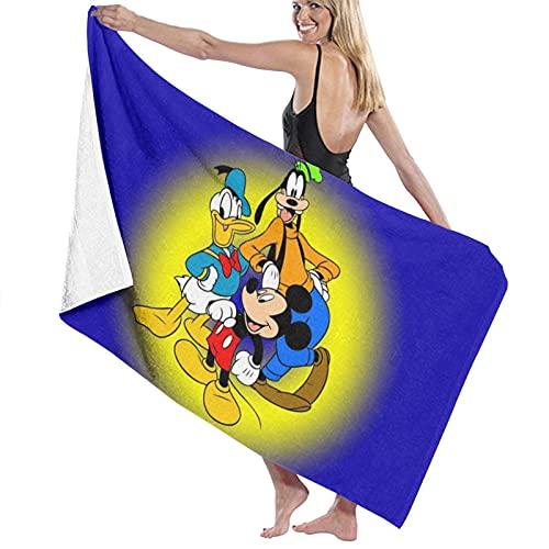 Toalla de baño de Mickey Minnie Donald, súper suave, de secado rápido y muy absorbente, calidad de 32 x 52 pulgadas £¬ Toallas de baño accesorios toalla de piscina.