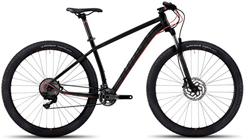 Ghost Kato 9 AL 29R Twentyniner Mountain Bike 2017 (Schwarz/Rot, M/46cm)