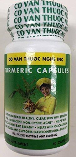 Thuoc Nghe Co Van Turmeric Caps - Vien nghe 40 capsules