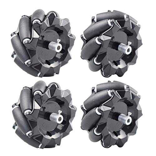 Gaoominy 15KG Load 96mm Omni Mecanum Wheel with 6mm TT Hubs for Raspberry Pi DIY STEM Robot Car Chassis Toy Parts