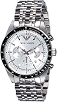 Emporio Armani Mens Quartz Watch, Analog Display and Stainless Steel Strap AR6073