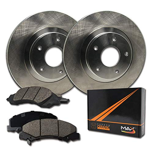 Max Brakes Front Premium Brake Kit [ OE Series Rotors + Ceramic Pads ] KT025741 Fits: 1994-1999...