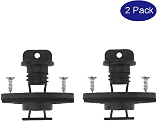 ZxbPal Kayak Drain Plug Kit Hull Coarse Thread Bung for Canoe Boat Set with Screws Replacement Hardware Accessories 2 PCs