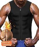 Eleady Men's Sauna Sweat Vest Weight Loss Waist Trainer (Black Sauna Tank Top Men, L)