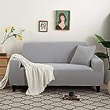 L.TSA Fundas de sofá Fundas elásticas de Tela de poliéster, de Punto Grueso para Fundas de Sala de Estar Fundas de sillón en Forma de L-9_Funda de Almohada, Fundas de sofá elásticas de Tela elásti