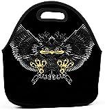 Bolsa de almuerzo reutilizable con aislamiento a prueba de fugas - Duradera, compacta, trabajo de oficina, escuela, pájaro, presa, águila, brillante