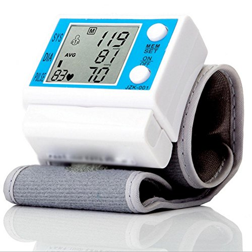 HRRH Automatische Handgelenk-Typ Intelligente elektronische Sphygmomanometer Blutdruck Pulse Präzisions-Detektor Große LCD Digital Blutdruckmessgerät Ältere Eltern Home Health Care Geschenk