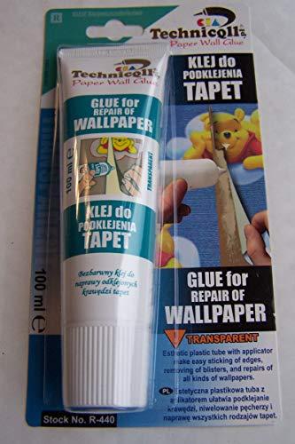 NEW 1 x 100 ml Transparent Colle pour réparation de papier de papier peint vinyle Technicqll