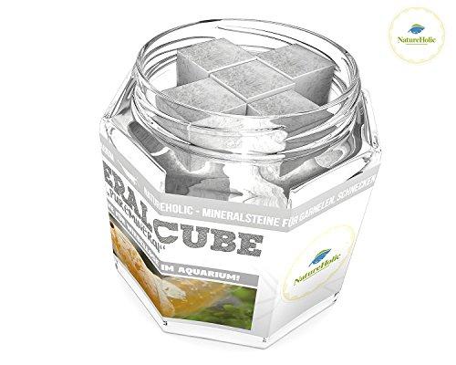 NatureHolic - MineralCube 'Pure Mineral' - 47ml - Mineralsteine für Garnelen, Schnecken & Krebse im Aquarium - 21,26EUR/100ml