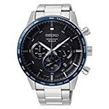 Seiko Neo Sports Chronograph Quartz Black Dial Men's Watch SSB357