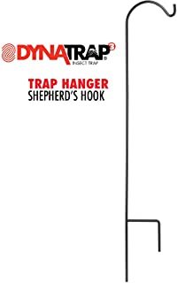 DynaTrap Adjustable Shepherd's Hook for Outdoor Insect Traps, Black
