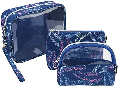 Anrui Cosmetic Bag 3 in 1 Set Makeup Travel Bag for Purse Portable Toiletry Bag Set Organizer product image