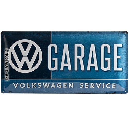 Nostalgic-Art 27003 Plaque rétro Motif Volkswagen en tôle avec Inscription VW Garage 25 x 50 cm