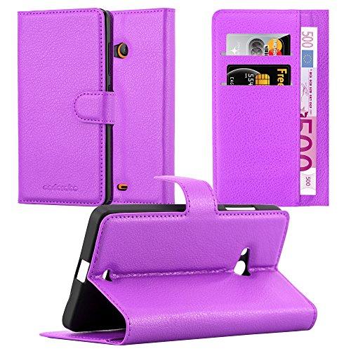Cadorabo Custodia Libro per Nokia Lumia 540 in Violetta Ametista - con Vani di Carte, Funzione Stand e Chiusura Magnetica - Portafoglio Cover Case Wallet Book Etui Protezione