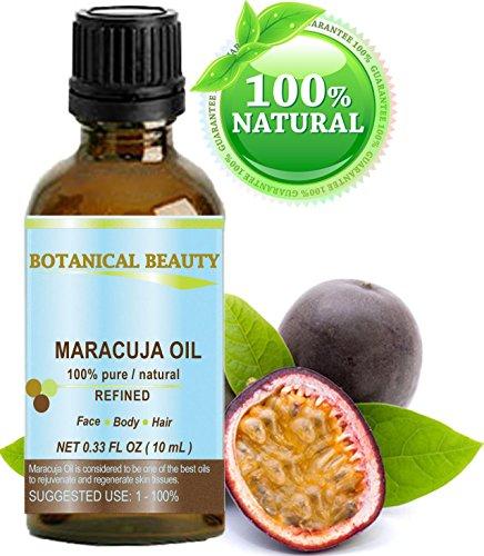 Maracuja Öl. 100% reine / natürliche. Kaltgepresste / unverwässert - 10ml. Für Gesicht, Haare und Körper.