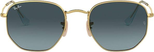 Ray-Ban Women's Rb3548n Flat Lens Hexagonal Sunglasses