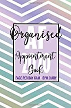 Organised AF 2020 Appointment Book Page Per Day 6am - 8pm  Annual Diary: Zig Zag Sassy Pretty 365 Daily and Monthly 2020 Diary with monthly calendar ... for appointments lovely, Christmas gift.