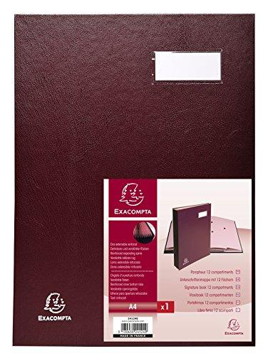 Exacompta 24124E Libro Firma, 24x32.5 cm, Rosso