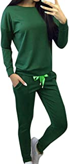 KAIXLIONLY Women's Solid Sweatsuit Set 2 Piece Outfits Long Sleeve Hoodie and Pants Sport Suits Tracksuits Workout Sets