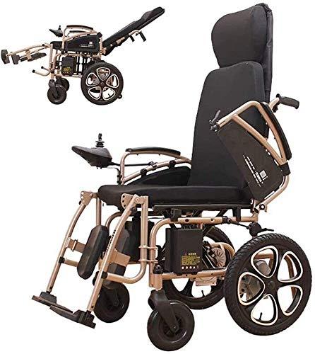 Ligero y fácil de usar silla de ruedas Movilidad plegable Scooter eléctrico, sillas de ruedas plegables, sillas de ruedas Sillas para adultos para personas con discapacitados con volante automático in