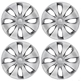 BDK Hubcaps Wheel Covers 2012, 2013, 2014 Toyota Prius Style (15 inch) – Four (4) Pieces Corrosion-Free & Sturdy – Full Heat & Impact Resistant Grade – OEM Replacement, 4 Pack