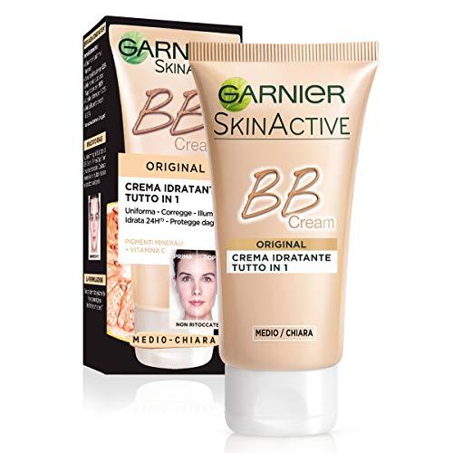 Garnier Bb Cream Original Crema Viso di Pelle 5 in 1 Medio-Chiara, 50 ml - [confezione da 3]