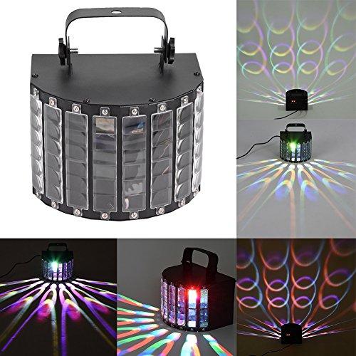 Led-partylicht, verlichting discolamp 14 modi 9 kleuren RGB DMX afstandsbediening muziekgestuurd 14,5 x 20,3 x 16,9 cm