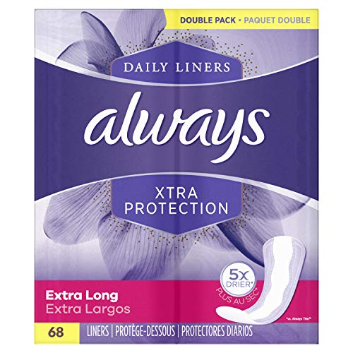 Always Xtra Protection Extra Long Daily Liners 68 Count