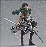 Attack On Titan Tokoh Anime Eren Mikasa Levi Ackerman Figma PVC Action Figure Koleksi Model Mainan Koleksi
