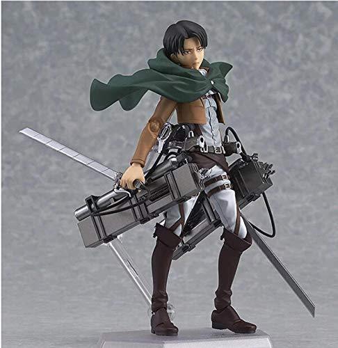 kijighg Attack On Titan Anime Figure Eren Mikasa Levi Ackerman Figma Action PVC Figure Collection Model Toy Collection Miglior Regalo