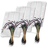 AZDelivery Breadboard Kit 3 x 65 Jumper Wire cables de Puente pines macho a macho y 3 x Mini Breadboard con 400 pines para Arduino y Raspberry Pi