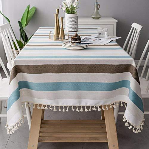 Alayth tafelkleed, tuintafel, strepen, eenvoudig, modern katoen, fris tafelkleed, salontafelkleed, achtergronddoek