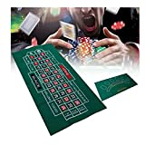 LQIAN Mantel de póquer de fieltro de ruleta de casino de ruleta de 24 pulgadas x 47 pulgadas Blackjack ruleta casino póker mesa de fieltro mantel no tejido