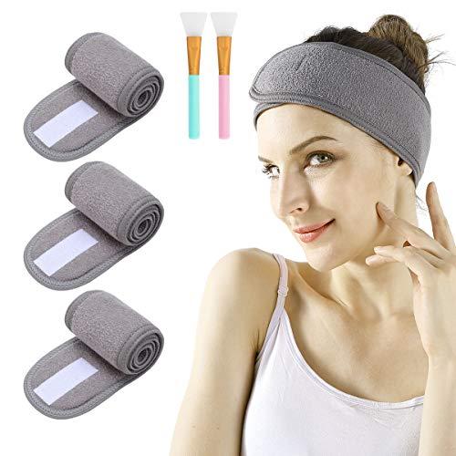 Spa Facial Headband - 3pcs Makeup Headband Stretch Head Wrap Now $7.19